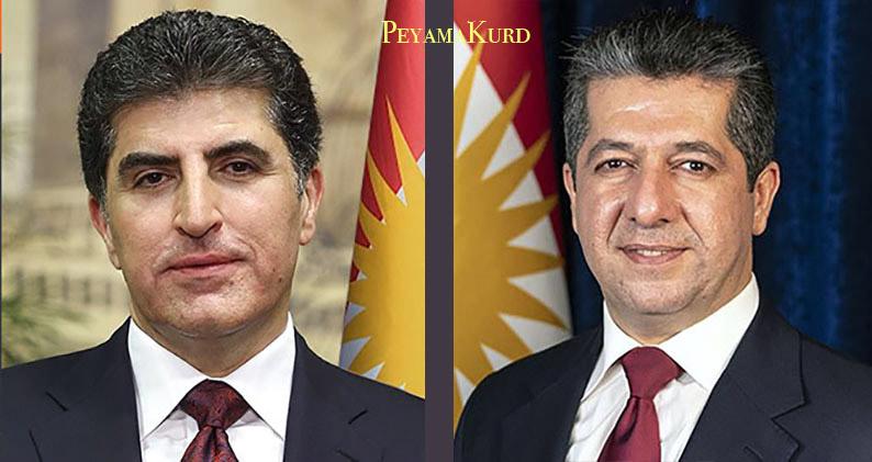 Neçirvan ve Mesrur Barzani'den Ramazan Bayramı mesajı!