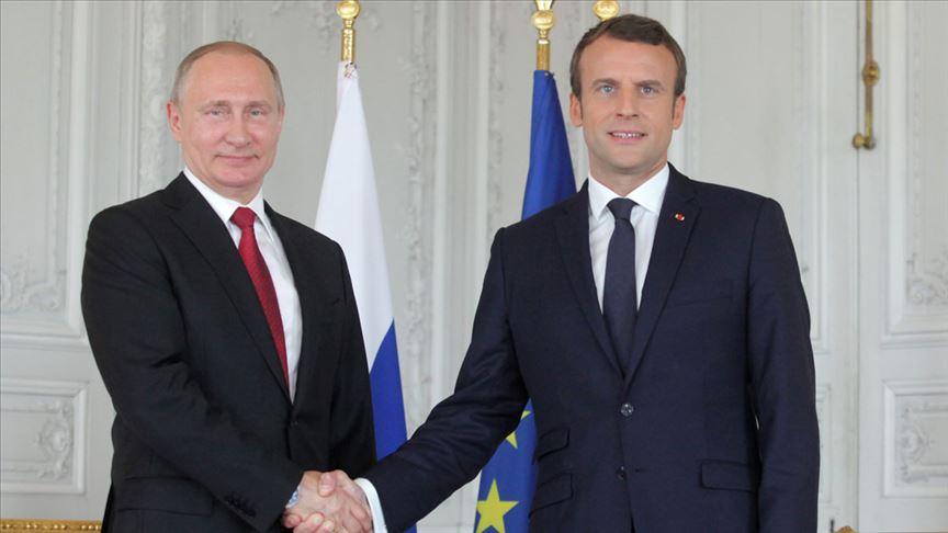 Kremlin: Putin, Macron'un dikkatini Ukrayna'daki eylemlere çekti