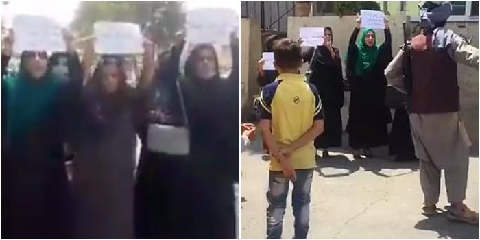 Afgan kadınlardan Kabil'de Taliban protestosu: Haklarımızı istiyoruz