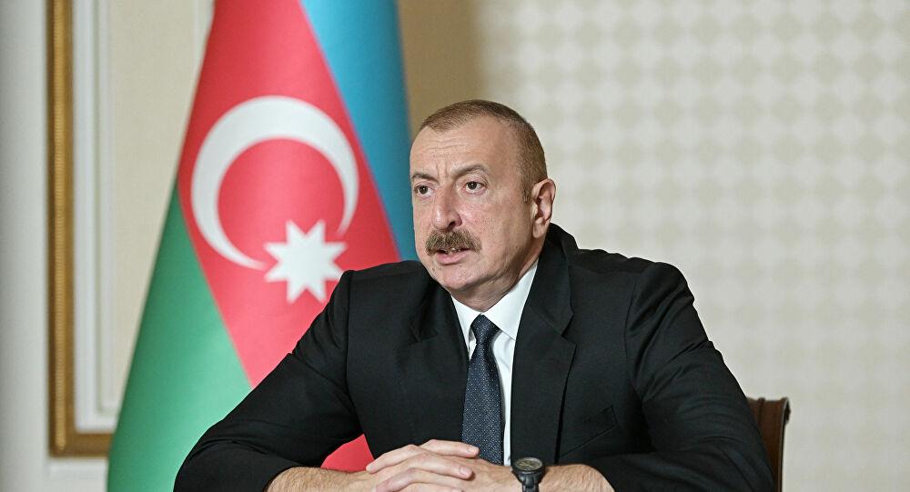 """Aliyev: """"Ermenistan'a bir nota, taslak barış anlaşması gönderdik"""""""