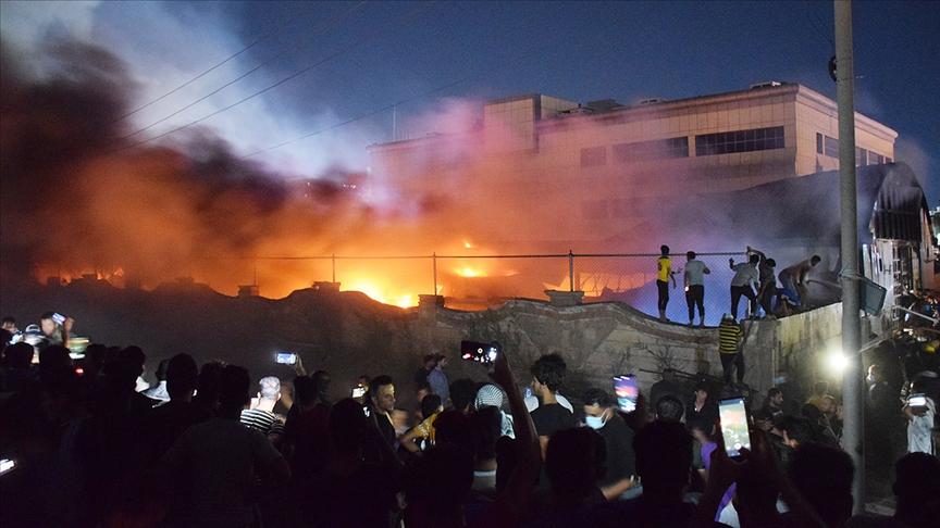 Irak'taki hastane yangınında ölü sayısı 92'ye yükseldi