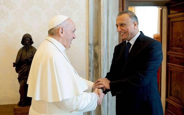 Irak Başbakanı Kazımi, Papa Francis ile görüştü!