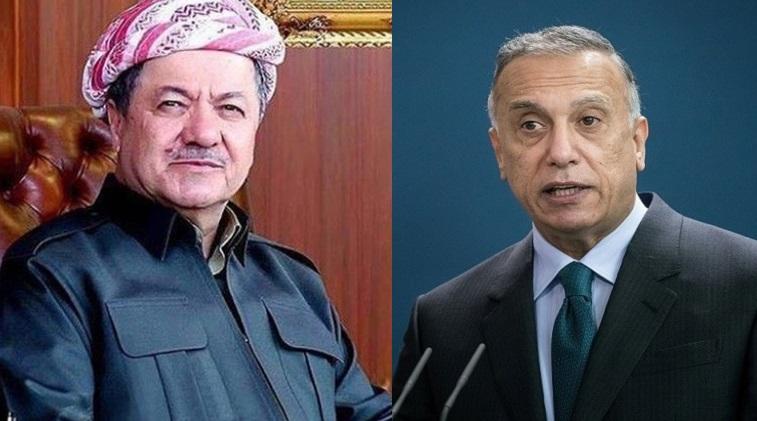 Başkan Barzani ve Kazımi, Peşmerge'ye yönelik saldırıyı görüştü