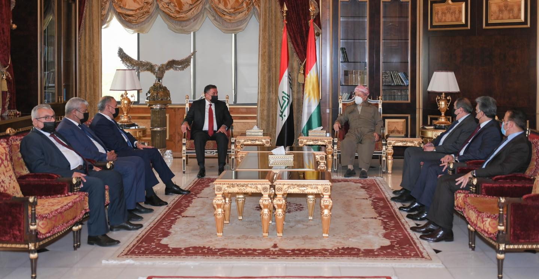 Başkan Barzani, Iraklı siyasi heyetle müzakereleri görüştü