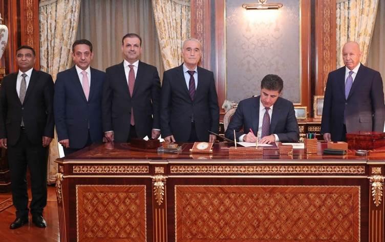 Neçirvan Barzani, yargıdaki kritik atamaları imzaladı