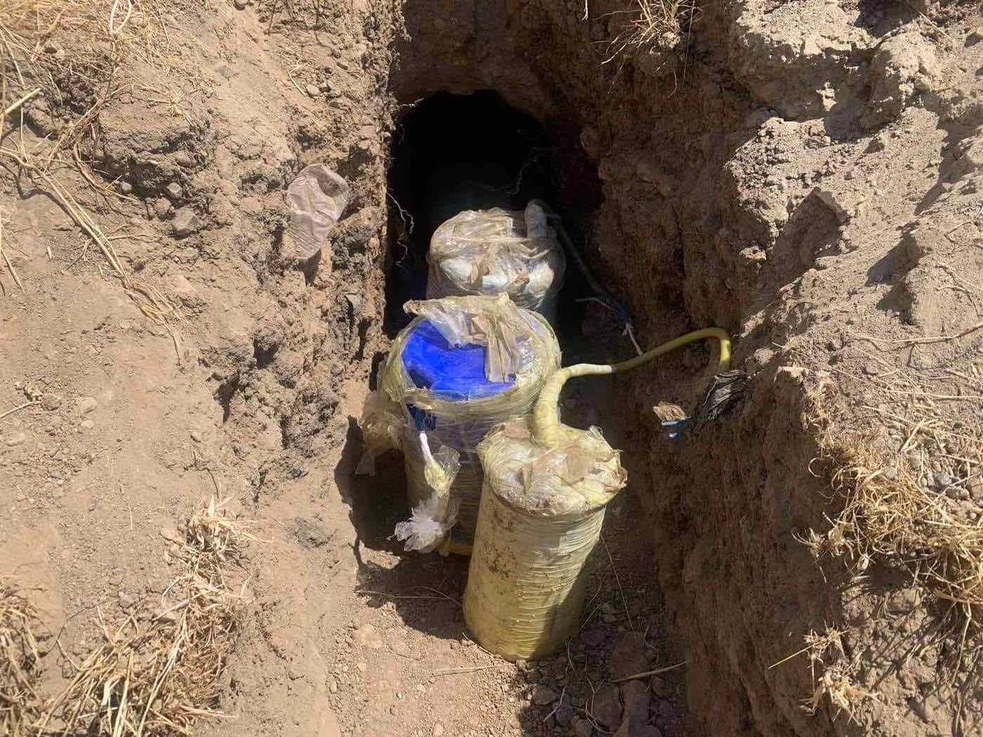 PKK'nin yola döşediği bomba düzeneği Peşmerge tarafından etkisiz hale getirildi!