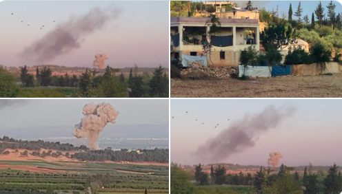 Rus savaş uçakları Afrin'deki silahlı grupları bombaladı!