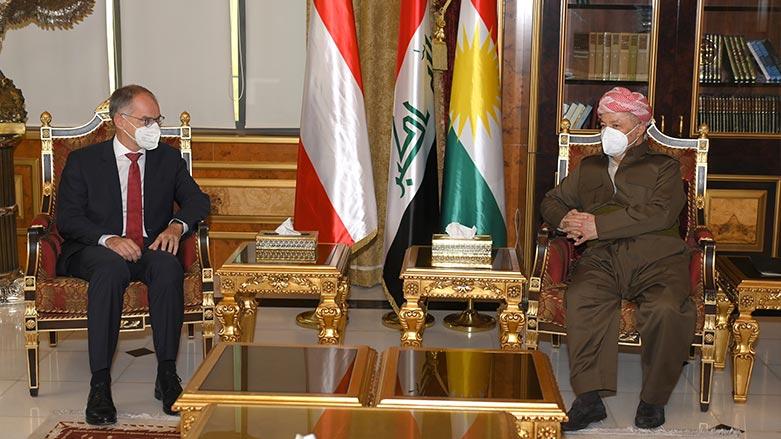Başkan Barzani ve Avusturya Büyükelçisi arasında önemli görüşme