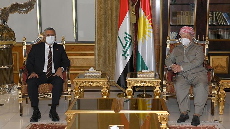 Başkan Mesud Barzani CHP heyetini kabul etti: İnkar dili terk edilmeli