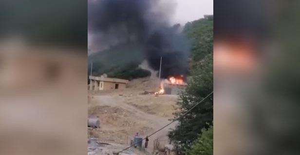 Süleymaniye'de PKK aracına hava saldırı: Ölü ve yaralılar var