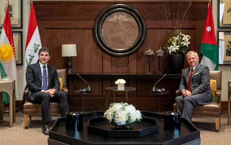 Neçirvan Barzani, Ürdün Kralı II. Abdullah ile görüştü