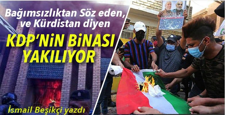 Kürdistan Bayrağı'nın ve KDP Binasının Yakılması Üzerine